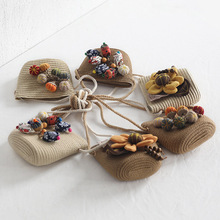 Шляпа, сумка, набор соломенных шляп с широкими полями, кепка, сумка на одно плечо для детей, весна-лето, Пляжная, FDX99