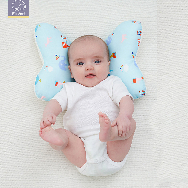 Elinfant Baby Cotton Pillow PP Cotton Shaping Pillow OS Comfortable Baby Sleeping Pillow 1 PCS Pack Baby Pillow Newborn