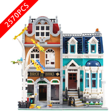New City Series Toys Panda Bookstore Compatible Lepinzk City Brick4 10210 Building Blocks Toys for Children Birthday Gift 2020 new city police station bela compatible lepining city 60141 60047 60140 building blocks toys for children birthday gift