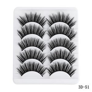 Image 5 - 5 Pairs Multipack 5D Soft Mink Hair False Eyelashes Handmade Wispy Fluffy Long Lashes Nature Eye Makeup Tools Faux Eye Lashes