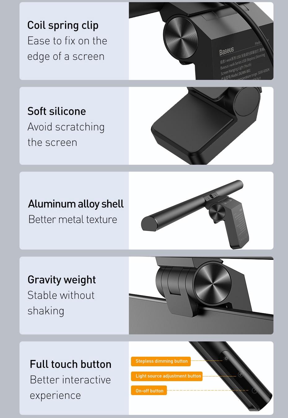 Baseus Screenbar LED Desk Lamp 10