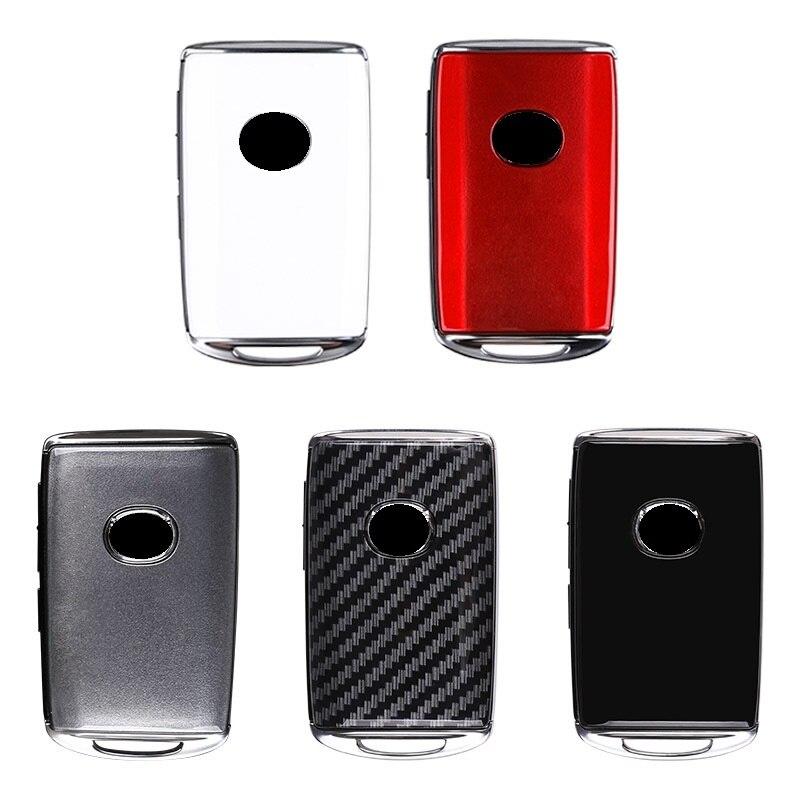 Fibra de carbono abs chave fob escudo substituição para mazda 3 alexa cx4 cx5 cx8 2019 2020 2/3/4 botão remoto inteligente chave do carro