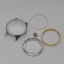 Часть часов, 43 мм чехол из сапфирового стекла из нержавеющей стали подходит для всех мужских часов eta 6497,6498 Seagull ST3600