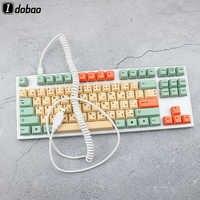 Câble spiralé Micro Mini USB type-c clavier mécanique noir blanc gris câble d'interface pour Gh60 XD64 Xd75 Xd96 modèles de boîtiers