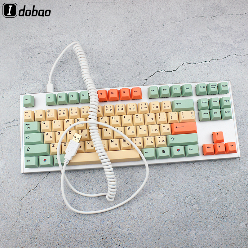 Coiled Cable Micro Mini USB Type-c Mechanical Keyboard Black White Grey Interface Cable For Gh60 XD64 Xd75 Xd96 Case Models