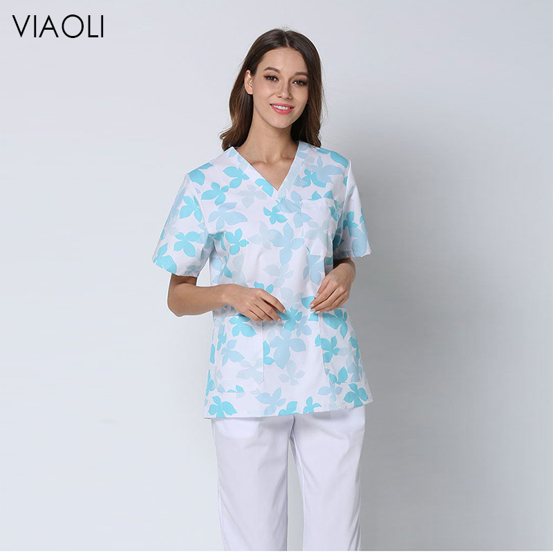 New Women Men Medical Uniforms Nursing Scrubs Medical Surgical Suit Lab Clothes Clinical Coat Top Pants Pharmacy Beauty Hospital