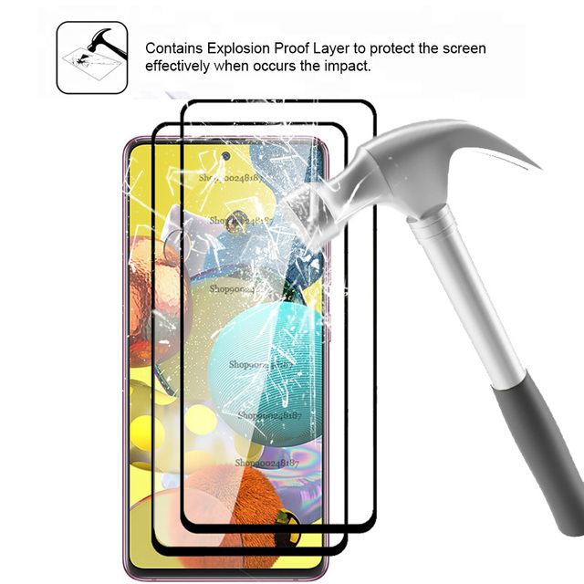 4 In 1 Camera Glass for Samsung Galaxy A51 5G Screen Protector Tempered Glass Samsun A71 A 71 51 A515F A715F Protective Film 5