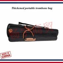 Новая мода тромбон чехол утолщенная Портативная сумка для тромбона тенор бас альт рюкзак тромбон аксессуары Запчасти