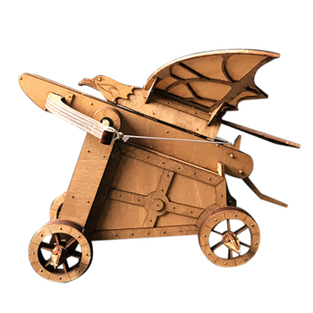DIY 3D Wooden Assembly Kit Siege Chariot Woodcraft Puzzle Model Building Gift Toy Home Ornaments Decor trumpet 01532 1 35 united arab emirates bmp 3 infantry chariot assembly model building kits toy