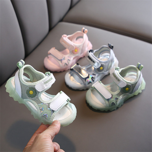 DIMI 2020 New Summer Kids Shoes Brand Baotou Toddler Girls Sandals Breathable Mesh Soft Non-slip Baby Boys Sandals Shoes