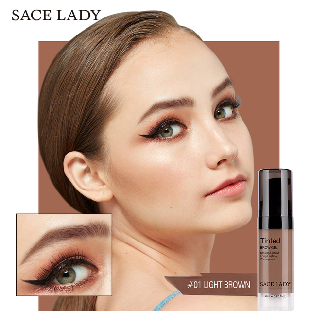 SACE LADY 6 Colors Eyebrow Gel Waterproof Tint Makeup Brush Set Brown Enhancer Eye Brow Dye Cream Make Up Paint Cosmetics 4