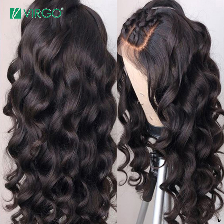 Virgo Malaysia Body Wave Human Hair Wigs 360 Lace Frontal Wig Pre Plucked With Baby Hair For Black Women 150 Density Remy