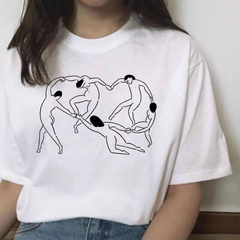 Matisse mujer camiseta harajuku ropa impresa kawaii verano casual dibujos animados camiseta arte streetwear tops mujer coreano gráfico