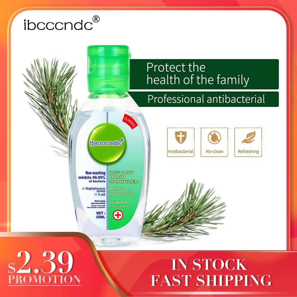 50ml Portable Instant Hand Sanitizer Antibacterial Gel 65% Ethanol Disposable Waterless Hand Gel Handgel Disinfection Kids Adult