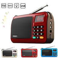 Мини Портативный fm-радио Rolton W405 перезаряжаемый Ручной FM MP3 музыкальный плеер динамик USB TF радио набор приемник со светодиодным дисплеем