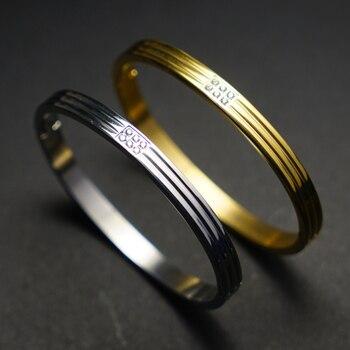 Распродажа, браслеты из нержавеющей стали, браслеты для женщин, роскошный браслет для влюбленных и блестящий хрустальный браслет, Женские Ю...