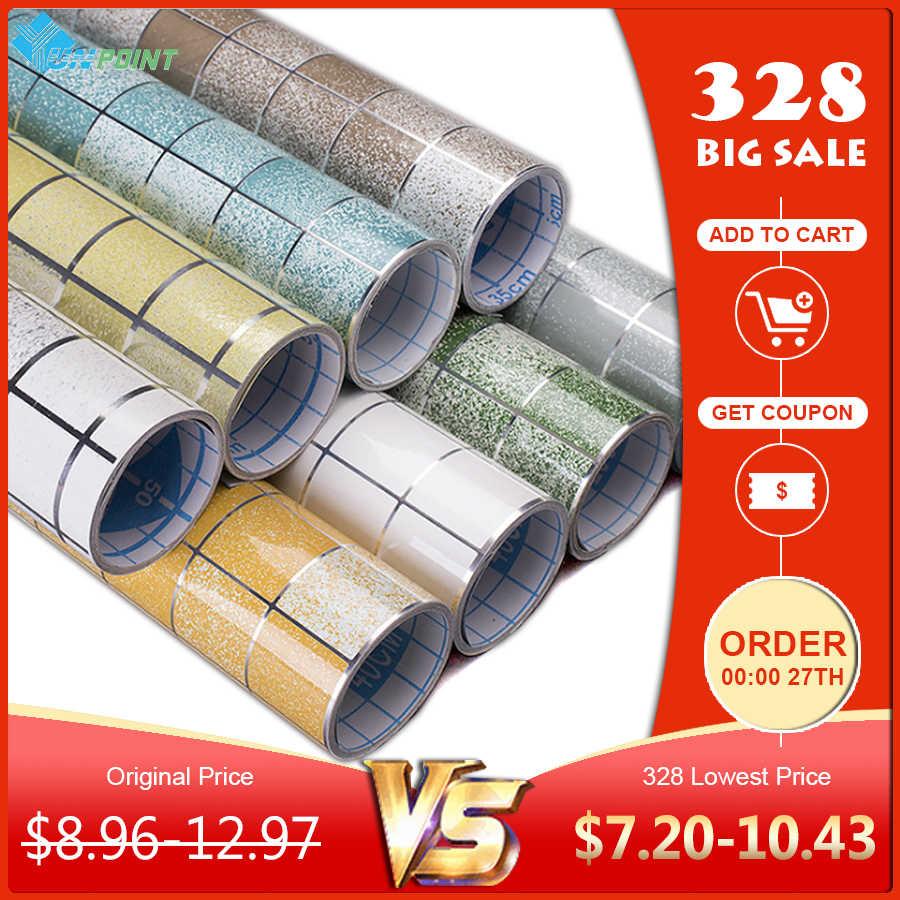 Papel pintado de transferencia de calor de 3 m/5 m, adhesivo autoadhesivo de cocina, papel tapiz autoadhesivo de mosaico, papel de aluminio, pegatinas para pared, decoración del hogar