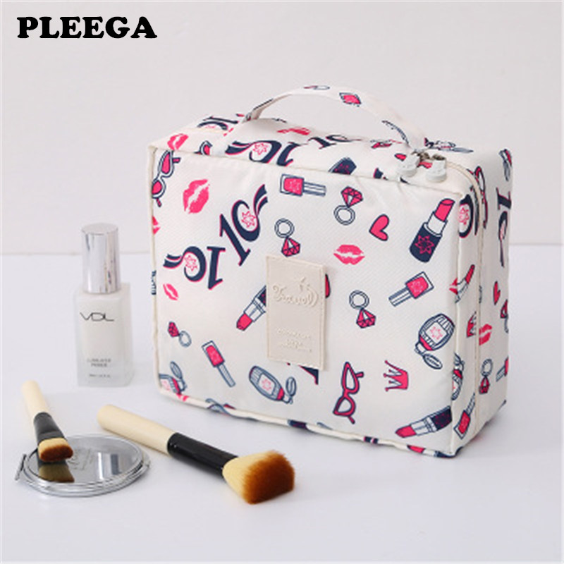 PLEEGA New Multifunction Travel Cosmetic Bag Women Makeup Bags Toiletries Organizer Waterproof Female Storage Make Up Cases