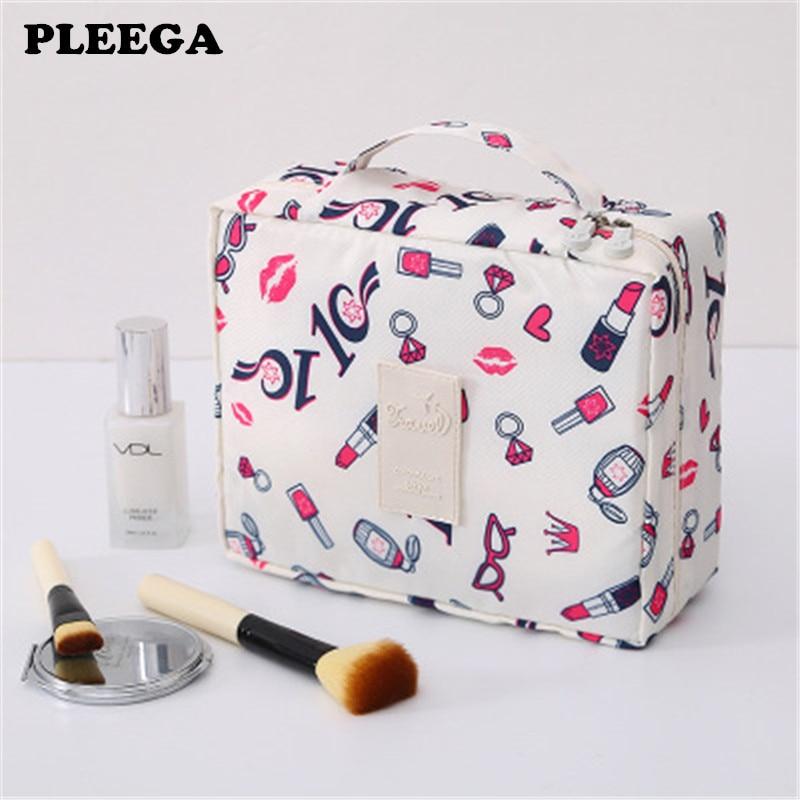 PLEEGA New Multifunction Travel Cosmetic Bag Women Makeup Bags Toiletries Organizer Waterproof Female Storage Make Up Cases