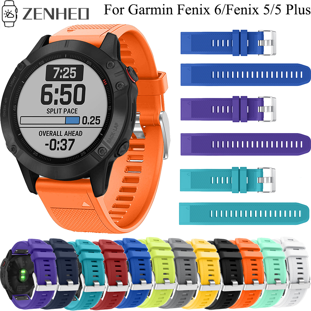 22mm Silicone Strap For Garmin Fenix 6/5/5 Plus Quick Release Band For Garmin Forerunner 935/Instinct/Quatix 5 Smart Watch band image