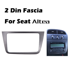 DOUBLE DIN Car Radio Fascia for SEAT Altea Toledo (LHD) Left Hand stereo  frame panel dash mount kit adapter trim Bezel facia