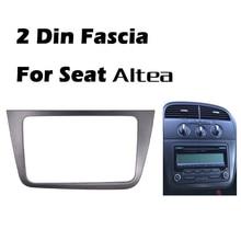 Fascia de rádio automotivo duplo din, para seat altea toledo (lhd) moldura estéreo da mão esquerda, kit de montagem do painel da guarnição do moldura facia