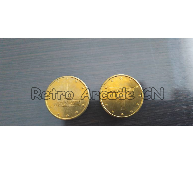 Arcade Game Coin Token Tokens Sample Customized Token Diameter 24mm Thickness 2.3mm Brass Material Brass