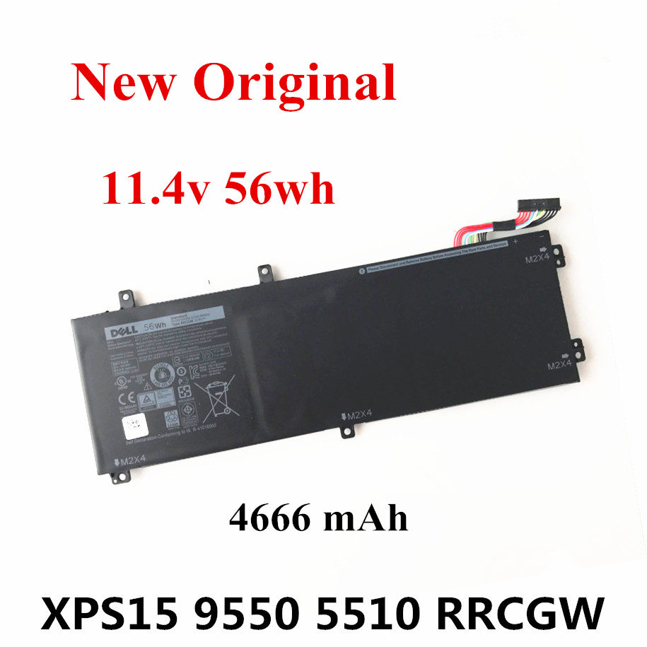 New Original Laptop Replacement Li-ion Battery For DELL Precision 5510 XPS15 9550 RRCGW 11.4v 4666mAh 56wh