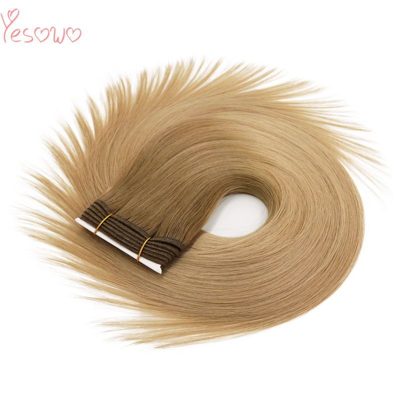 Yesowo Silky Straight 100g 12-26Inch High Quality Cheap Soft Hair Weave Bundles 100% Indian Remy Human Hair Extension Ombre