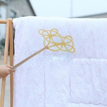 Traditional Racket Woven Imitation Rattan Duster Car Mats Dust Removal Carpet Rug Beater Household Clean Tool Durable Handmade