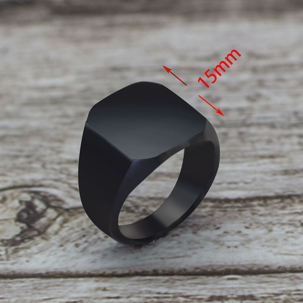 2019 Fashion Simple Style Black Gold Square Ring Classic Ring Wedding Engagement Party Jewelry Classic For Men Women Gift
