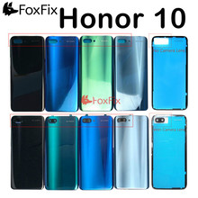 Back Glass For Huawei honor 10 Back Cover Housing with Rear Camera Lens For Honor 10 Battery Door Back Cover COL-L29 Replacement
