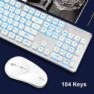 Image 3 - Gaming Draadloze Toetsenbord Muis Combo 104 Toetsen Waterdicht Regenboog Backlight Voor Pc Laptop Gamer Games Muizen En Toetsenborden Kit
