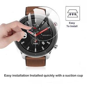 Image 5 - 2019 yeni 9H temperli cam ekran koruyucu için AMAZFIT GTR 42mm 47MM akıllı saat Anti Scratch kapak koruyucu şeffaf Film