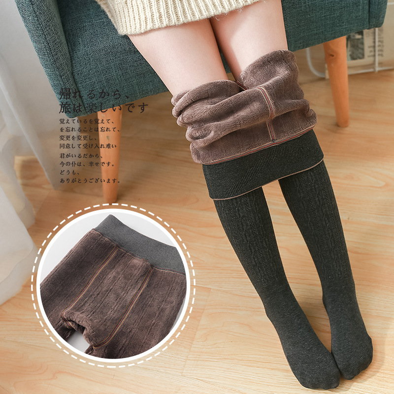 Winter Infant Brushed Thicken Girls Tights for Winter Warm Baby Girls Stockings Solid Kids Pantyhose Cotton Long Stockings 3