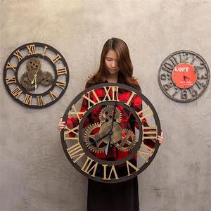 Image 2 - 산업 기어 벽 시계 장식 레트로 MDL 벽 시계 산업 시대 스타일 룸 장식 벽 예술 장식