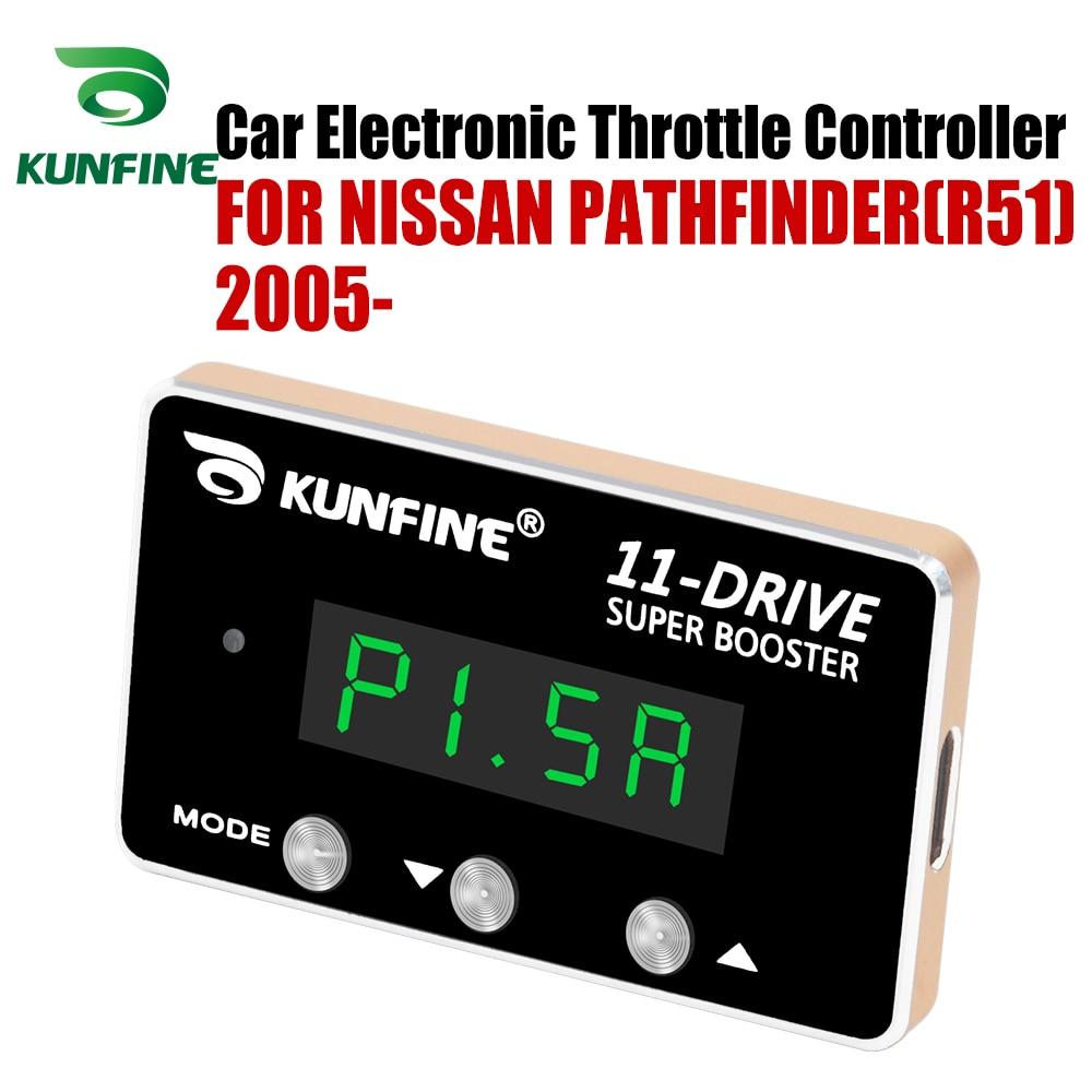 Kunfine Auto Elektronische Gasklep Controller Racing Gaspedaal Potent Booster Voor Nissan Pathfinder (R51) 2005-Na Tuning Onderdelen