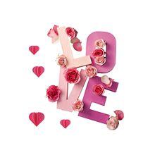 Novo 2021 adesivos dia dos namorados amor rosa adesivo sala de estar quarto esculpido adesivos parede novo estilo de etiqueta