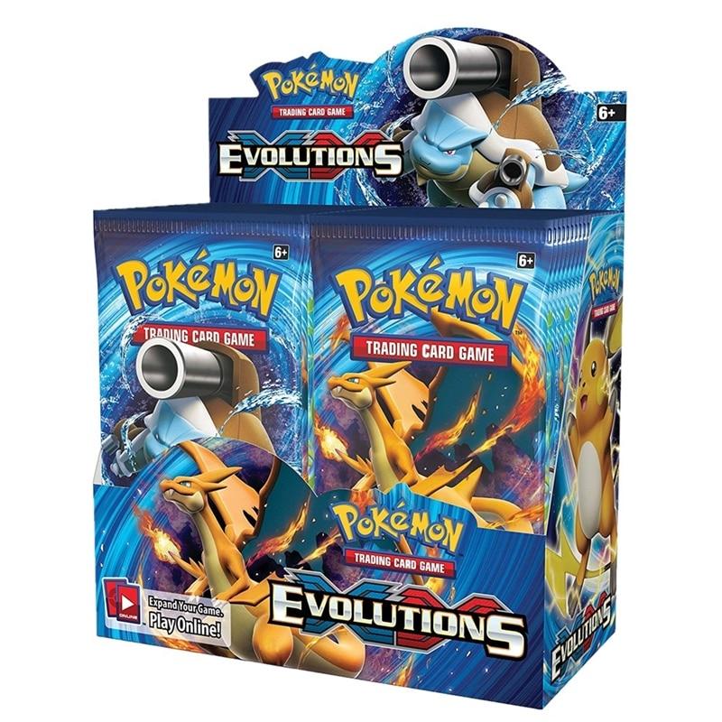 324 pçs pokemon cards sun & moon xy evoluções booster caixa colecionável cartões de negociação jogo