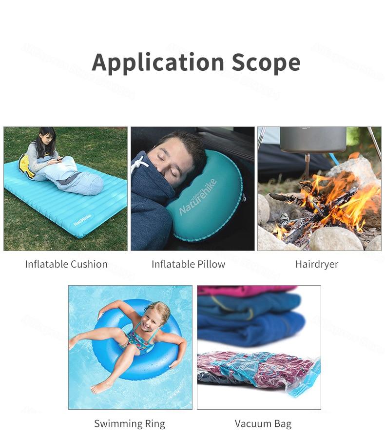 bolso bomba elétrica para colchão inflável travesseiro de acampamento ao ar livre