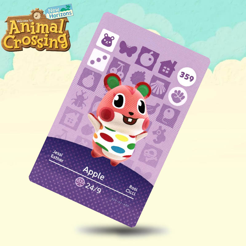 359 Apple Animal Crossing Card Amiibo Cards Work For Switch NS 3DS Games
