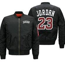 Jordan 23 hombres marca Casual cremallera abrigo Otoño Invierno militar táctico chaquetas hombres Vintage Hip Hop ropa de talla grande hombres Tops
