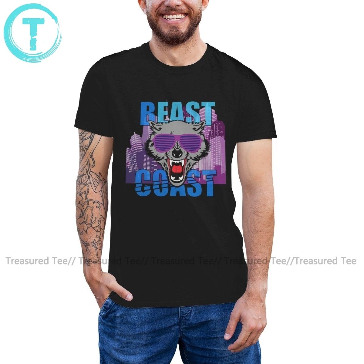 Beast T Shirt Beast sahil T-Shirt % 100 pamuk moda tişört XXX baskılı kısa kollu erkek komik Tshirt