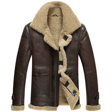Genuine Leather Winter Jacket Natural Real Sheepskin Coat fo