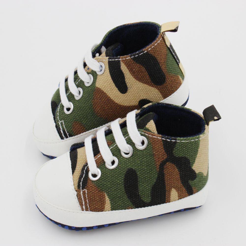 Kids Baby Unisex Soft Bottom Crib Shoes Casual Camo First Prewalker 0-18M