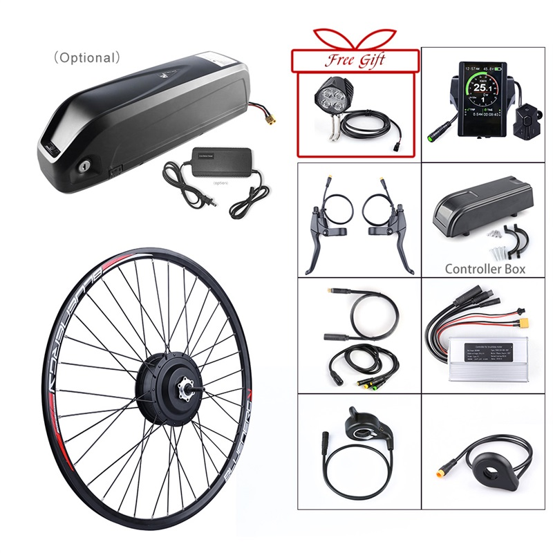 48V 500W Bafang Electric Bicycle Gear Brushless Hub Motor Rear Wheel Conversion Kit 48V 17 5Ah