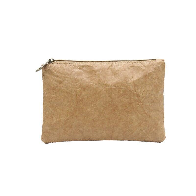 PUBGS Women Clutch 2019 New Kraft Paper Cosmetics Bag Light Washable Tear-resistant Environmentally Friendly Portable Phone Bag