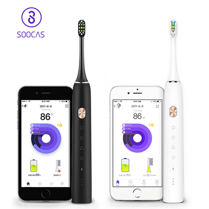 Original SOOCAS / SOOCARE X3 Upgraded Sonic Electric Toothbrush Rechargeable Ultrasonic Toothbrush Dental Care Oral Tooth Brush