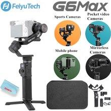 Usato Feiyu Feiyu G6 Max stabilizzatore cardanico per fotocamera palmare a 3 assi per fotocamera Mirrorless fotocamera tascabile GoPro Hero 8 7 6 Smartphone