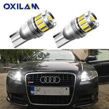 Éclairage d'intérieur pour Parking, 2 pièces W5W T10 lampe à LED Canbus, pour Audi A3 A4 A6 A5 8p B6 B8 B7 B5 C6 S3 S4 RS3 TT Quattro Q5 Q7 100, 300